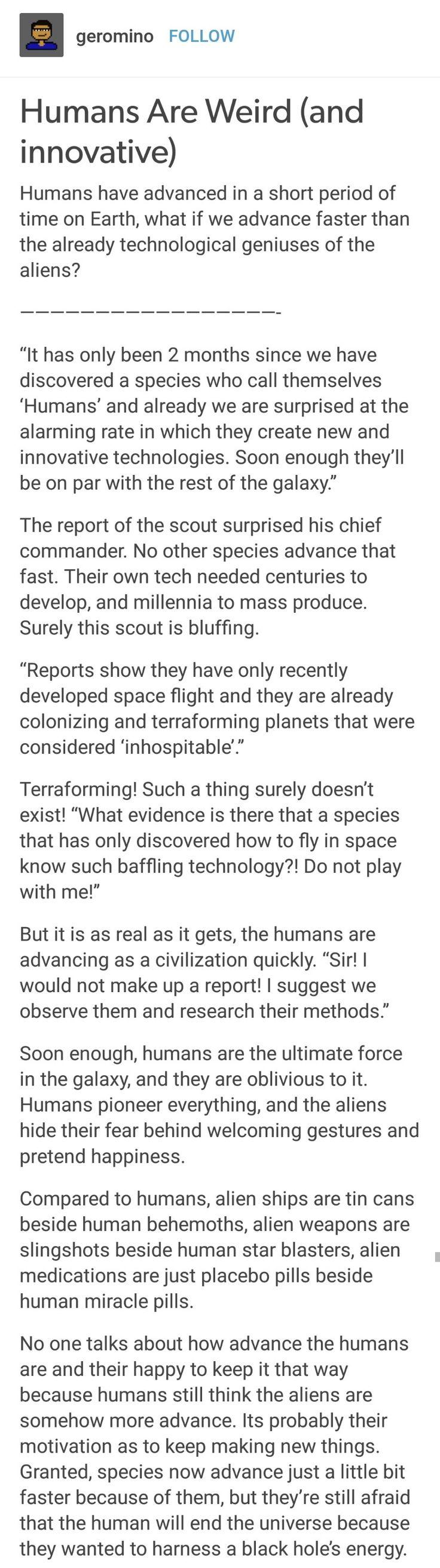 Humans are Weird: Innovative