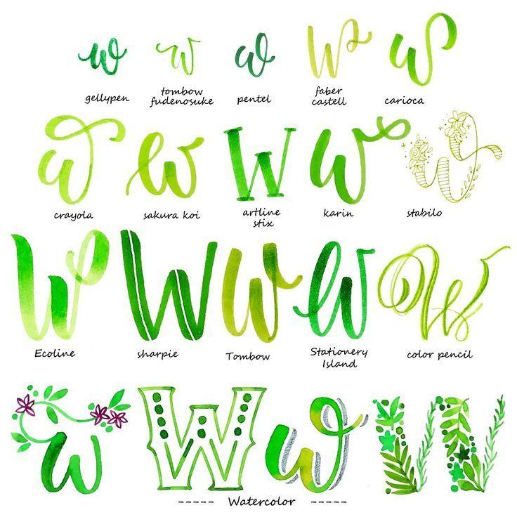Handlettering Alphabet Buchstabe W Lettering Alphabet Hand Lettering Tutorial Lettering Tutorial