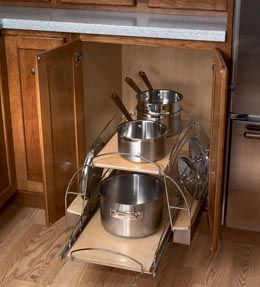 Storage Solutions Details   Base Cookware Storage Roll Out   KraftMaid