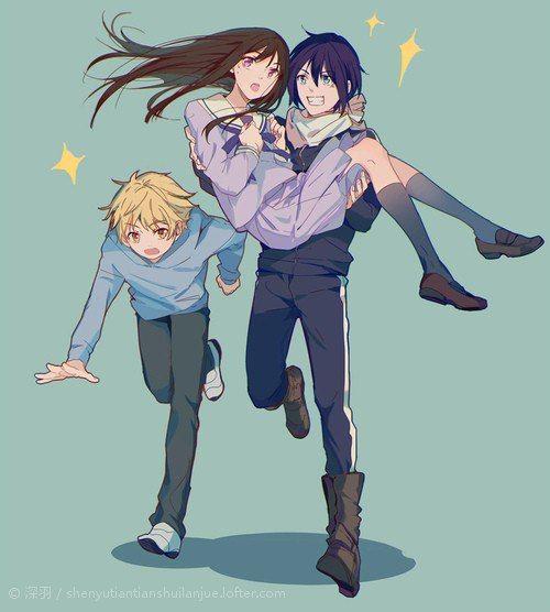 Noragami- Yukine, Hiyori, and Yato #Anime
