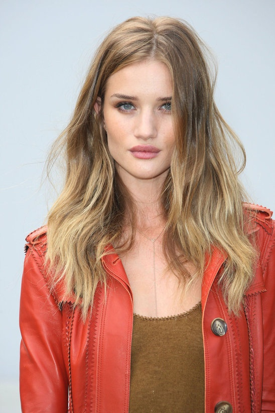 Rosie Huntington-Whiteley-perfect example of soft, muted, blended, ever so slightly warm but neutral.