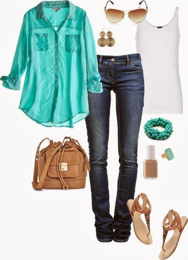 Primavera 2014 / spring 2014. moda de primavera, spring fashion, chevron skirt, mint blouse, coral dress.