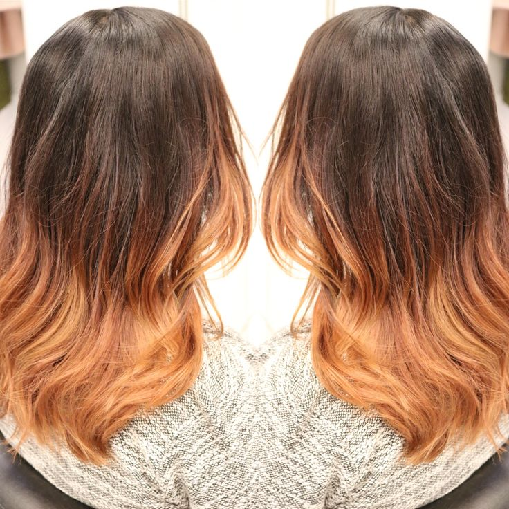 "Soft ombre ""sombre"" color with soft copper ends"