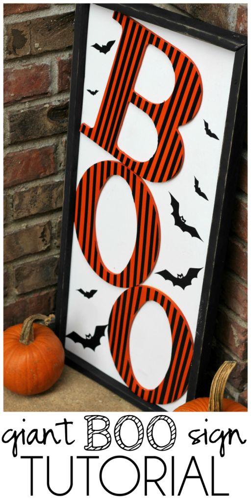 Halloween Sign  Make a Giant Halloween Boo Sign Tutorial