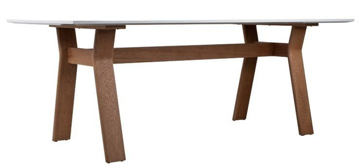 Zuiver Tafel hout naturel/bruin/wit 200x90x76 cm, TABLE HIGH ON WOOD