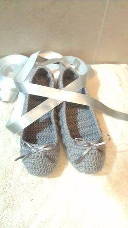 ballet slippers : crochet