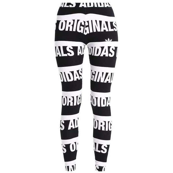 adidas Originals Leggings black/white (97 BRL) ❤ liked on Polyvore featuring pants, leggings, adidas originals pants, black and white leggings, black white pants, adidas originals leggings and adidas originals