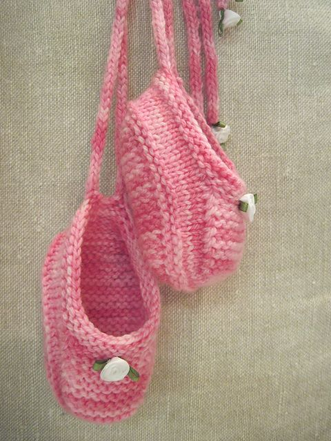 Baby Ballet Slippers Knitting Pattern : 17 Best images about Knit Bags, Pouches & Purses on Pinterest Purse pat...