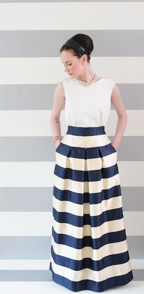 http://annemcramer.com the full length flynn dress ...100% silk, fully lined, inverted pleating at front ,gathered at back ,pockets $280