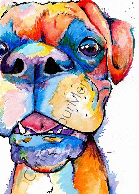Boxer dans ta face par CartoonYourMemories sur Etsy