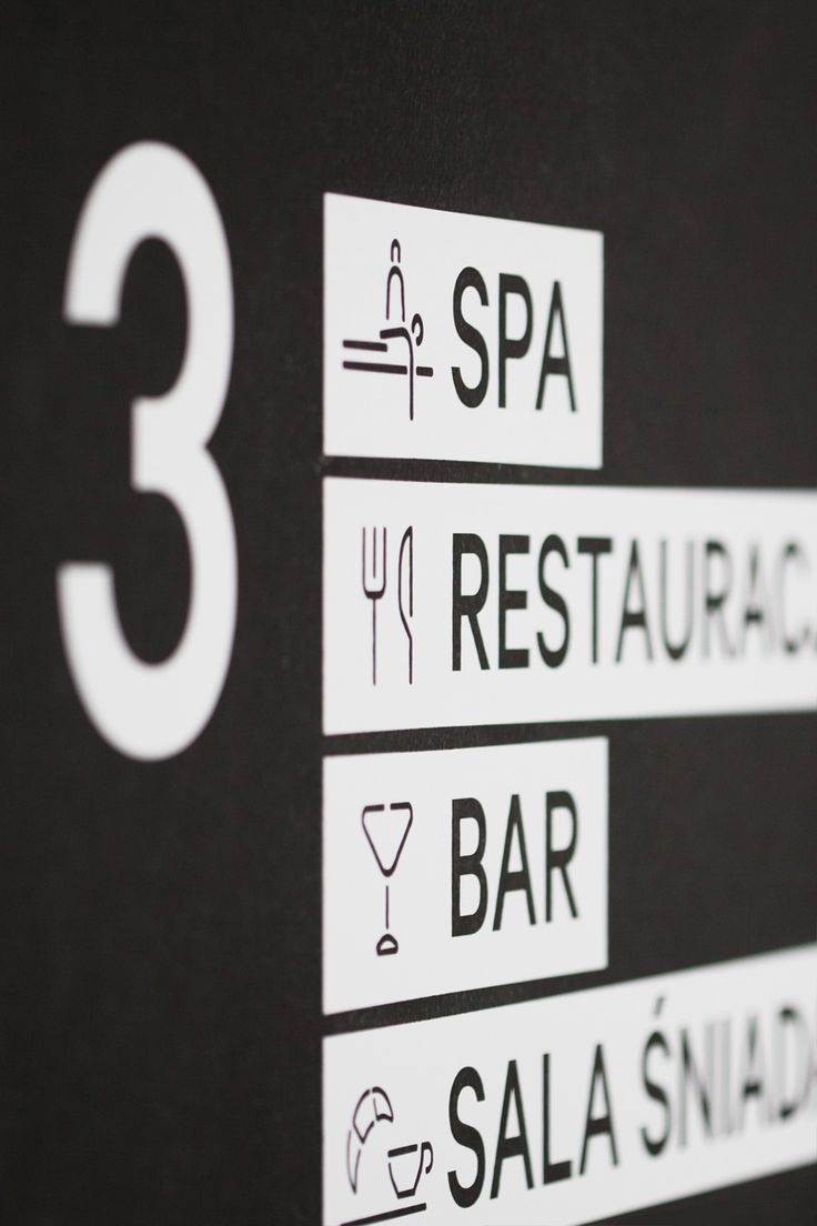 Nice signage project - classy