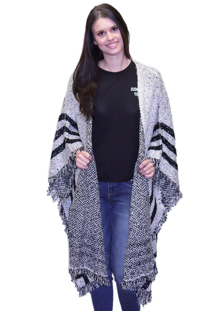 BK Accessories Poncho Style Sweater