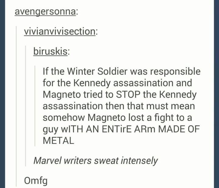 That moment when Bucky beat Magneto...?