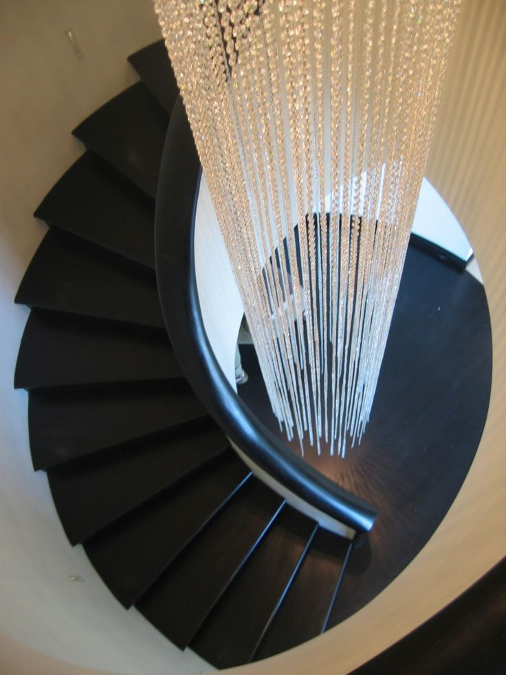 designer modern lighting. clear crystal stairwell light sculpture from spina designer modern lighting e