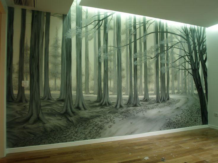 Mural decorativo para salón, más trabajos en: http://murea.es/decorativos-y-exteriores/