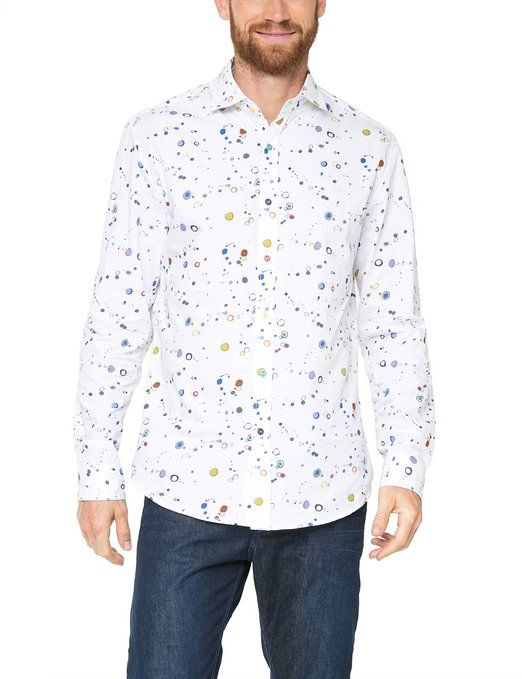Desigual Men's Regular Fit Long Sleeve Leisure Shirt: Amazon.co.uk: Clothing