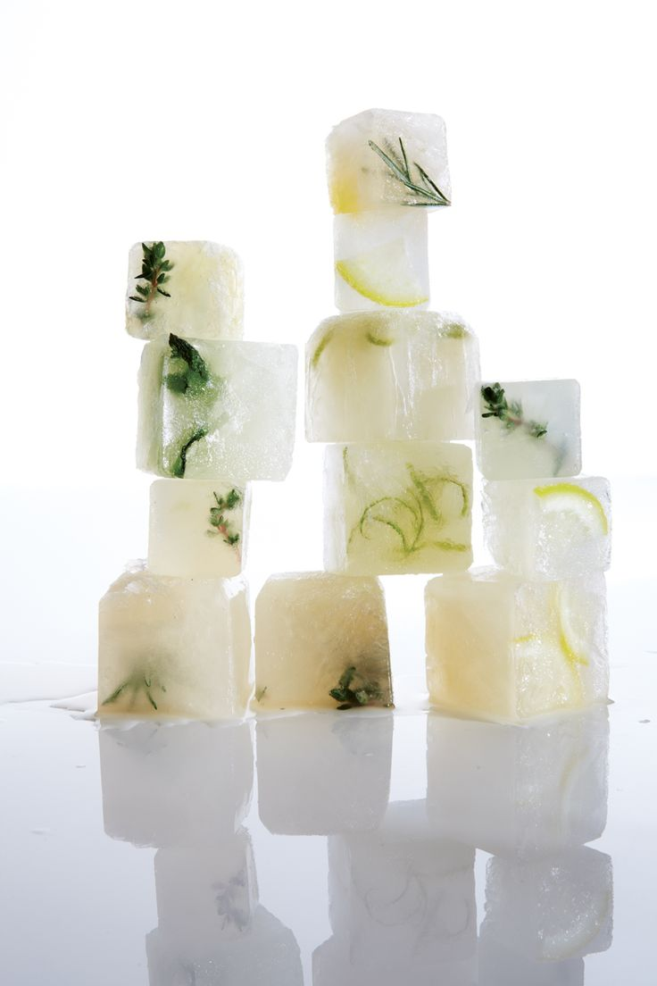 Citrus-Lemongrass Ice Cubes  Recipe: http://www.vegetariantimes.com/recipe/citrus-lemongrass-ice-cubes/?utm_source=MyVegetarianTimes&utm_medium=newsletter&utm_campaign=MyVegetarianTimes