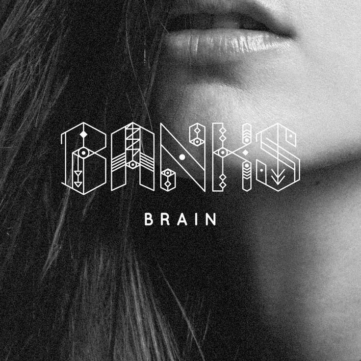 Banks album cover typography