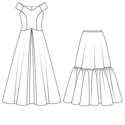 Платье жаклин кеннеди - выкройка № 119 из журнала 3/2008 Burda – выкройки на Burdastyle.ru