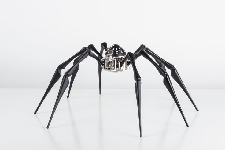 ARACHNOPHOBIA: a mechanical table clock conceived by MB&F and manufactured by L'Epée 1839. Probably the world's first spider-shaped timekeeping Machine?