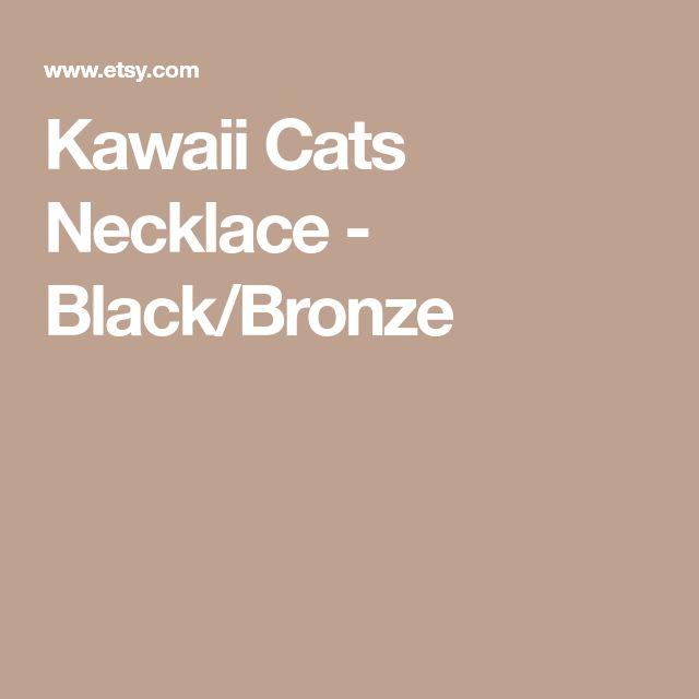 Kawaii Cats Necklace - Black/Bronze