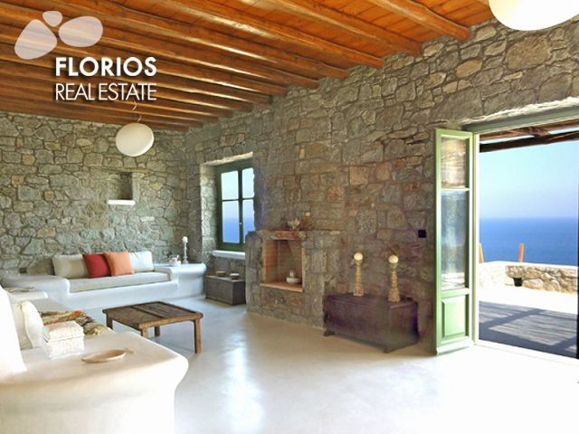 This villa offers an overall luxurious accommodation, full of the warm Aegean light in a modern setting of style and charm. FL1041 Villa for Sale on Mykonos island Greece. http://www.florios.gr/en/Villas-For-Sale-Mykonos-Island-Greece.html