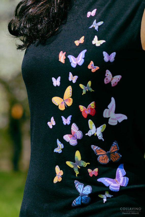 Mariposas lujo diseño barco cuello parte superior por byMIAmade
