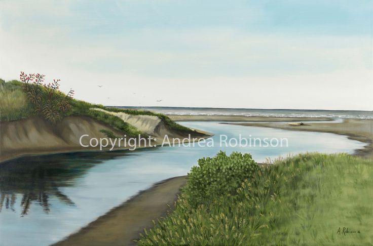 Waikanae River Andrea Robinson Fine Art www.andrearobinson.co.nz