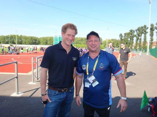 Scott Seccome meets HRH Prince Harry