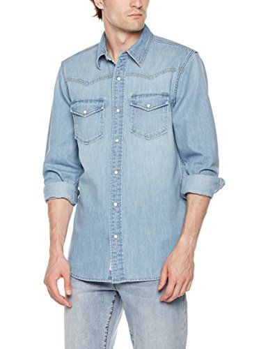 8f8495b9feb Quality Durables Co. Men s Denim Western Snap Up Shirt - https   ift ...