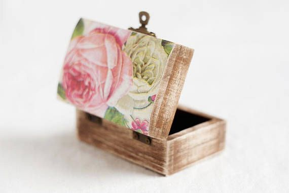 Wedding Ring Box, Rustic Ring Box, Ring Holder, Ring Box, Ring Box Wedding, Engagement Ring Box, Wooden Ring Box, Boho Ring Box, Roses Box