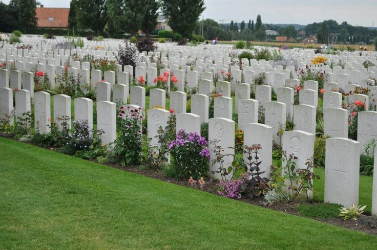 Tyne Cot Cemetery, near Ypres, Belgium.