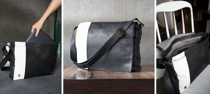 On your bike then. This unisex satchel will take you and your laptop anywhere.