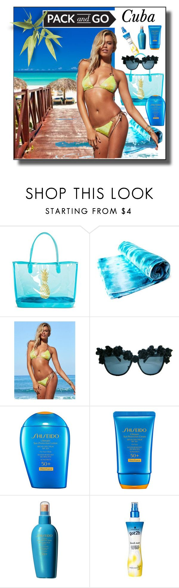 """Cuba Pack and Go"" by sabine-713 ❤ liked on Polyvore featuring Target, Beach Bunny, Shiseido and Got2b"