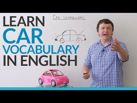 Learn vocabulary about CARS in English - YouTube
