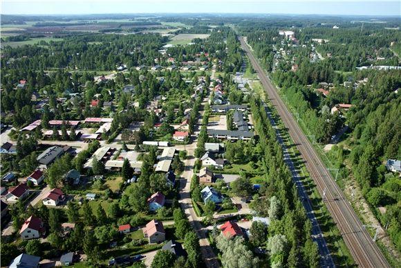 Petsamon kaupunginosa, Riihimäki. Kuvattu 9.6.2011, SkyFoto Group