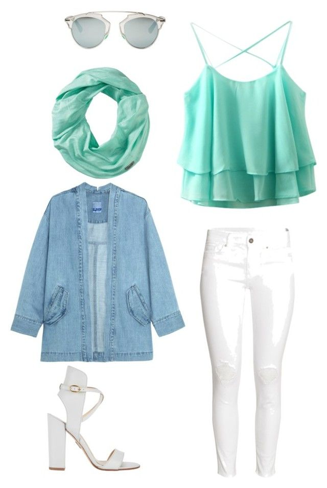 """Mint in the city"" by citrarizkiamalia on Polyvore featuring beauty, Steve J & Yoni P, H&M, Paul Andrew, Smartwool and Christian Dior"