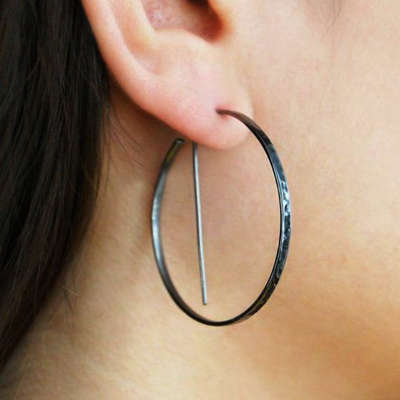 Silver Hoop Earrings Images Gold Canada
