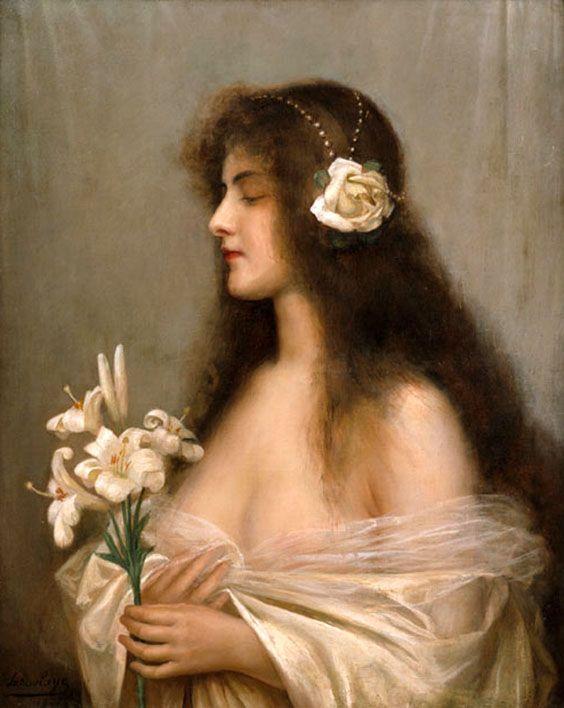 Paul-Antoine de La Boulaye (French, 1849-1926). Female Figure In White