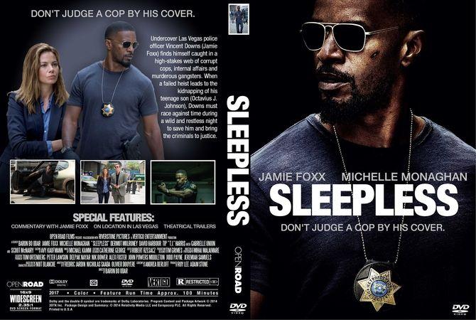 Sleepless (2017) DVD Custom Cover