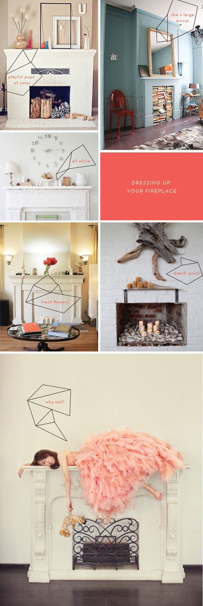 dressing up your fireplace mantle