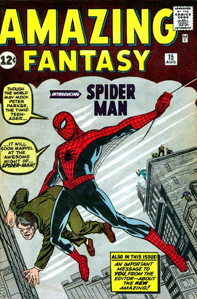 Amazing Fantasy #15 - Spider-Man! / The Bell Ringer / The Man in the Mummy Case / There are Martians Among Us (Issue)