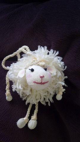baby girl yarn sheep
