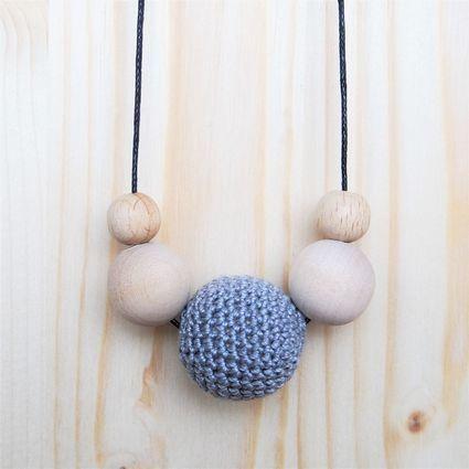 TRESURE: Viisikko-kaulakoru   Weecos #annieeleanoora #puutajapuuvillaa #viisikko #kaulakoru #woodandcotton #fivesome #necklace