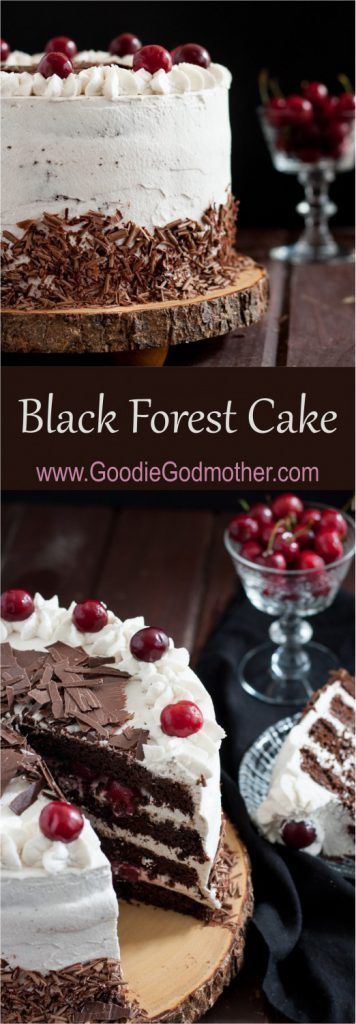 Black forest cake is a traditional German torte originating from a bakery in the Black Forest. This recipe is a more chocolate-rich version of the original. * Recipe on GoodieGodmother.com