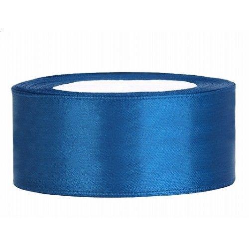 Blauw Satijn Lint 25 mm