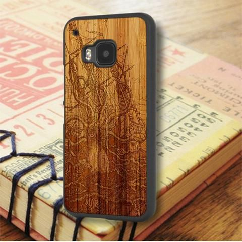 Vintage Kraken Wood Design HTC One M9 Case