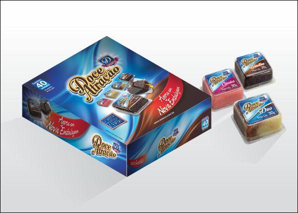 Criação de caixa display, rótulo para empresa de doces