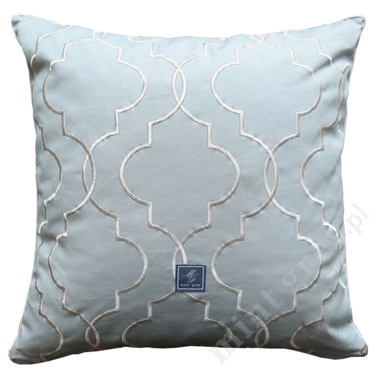 MINT GREY New York Style Interiors | produkty - dodatki; Poduszka QUATREFOIL MINT; Poduszki MINT GREY; Pillows; Cushions