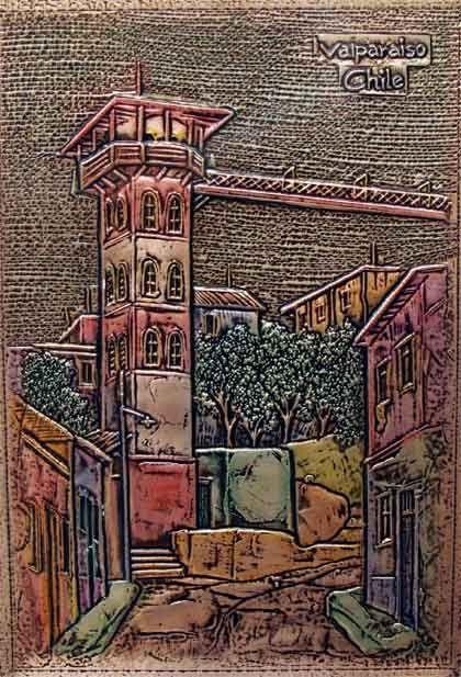 Valparaíso. Artesanía en cobre.